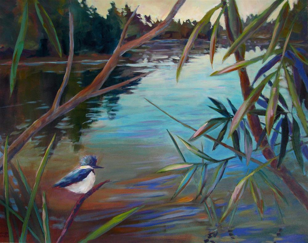 """Kingfisher Contemplation"" original fine art by Melissa Gannon"
