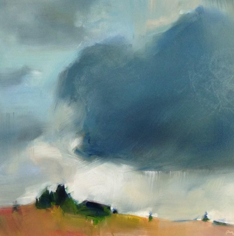"""""""Blue Clouds Ahead"""" original fine art by Patti McNutt"""
