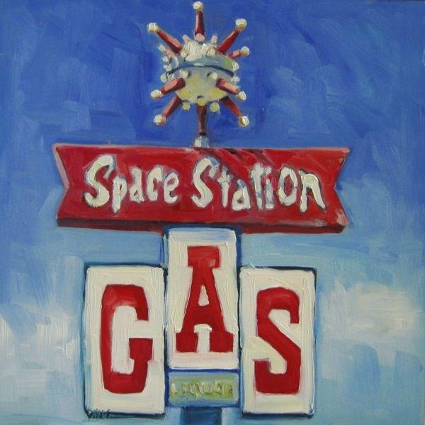"""""""SPACE STATION"""" original fine art by Mb Warner"""