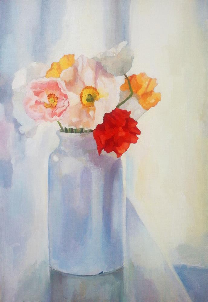 """Light on Poppies"" original fine art by Nava Judith"
