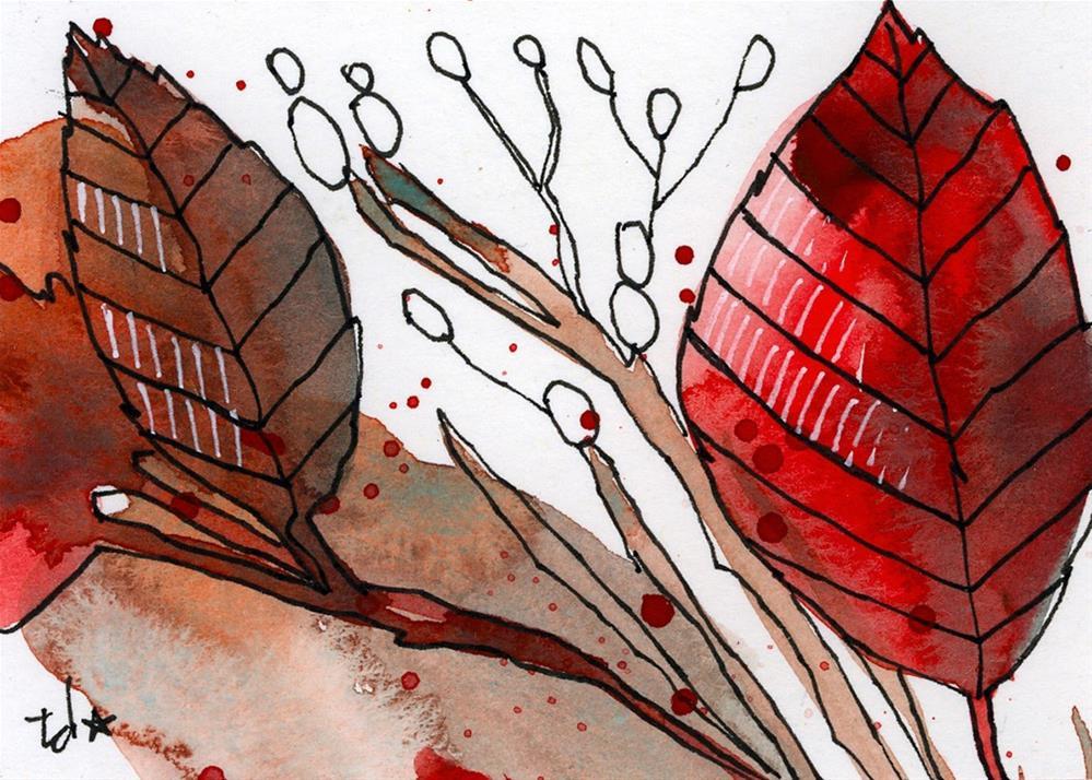 """Sprig"" original fine art by Tonya Doughty"