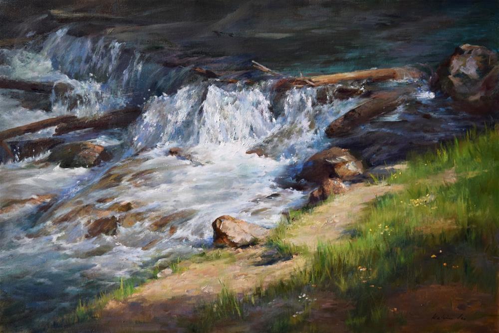 """River Series #9"" original fine art by Kelvin Lei"