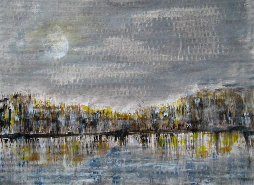 """Moon Cityscape"" original fine art by Alina Frent"