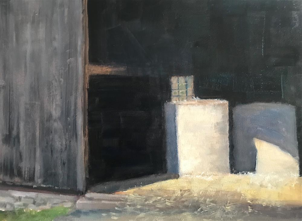 """hay in the barn"" original fine art by Betty Argiros"