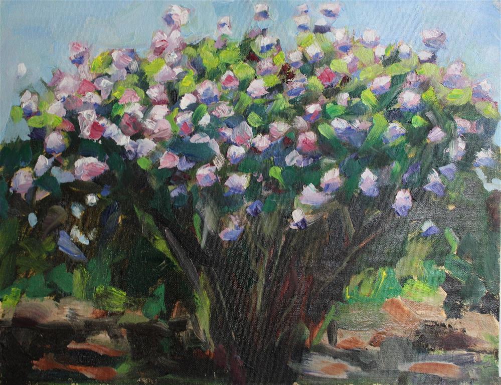 """Lilac Bush"" original fine art by James Gorman"