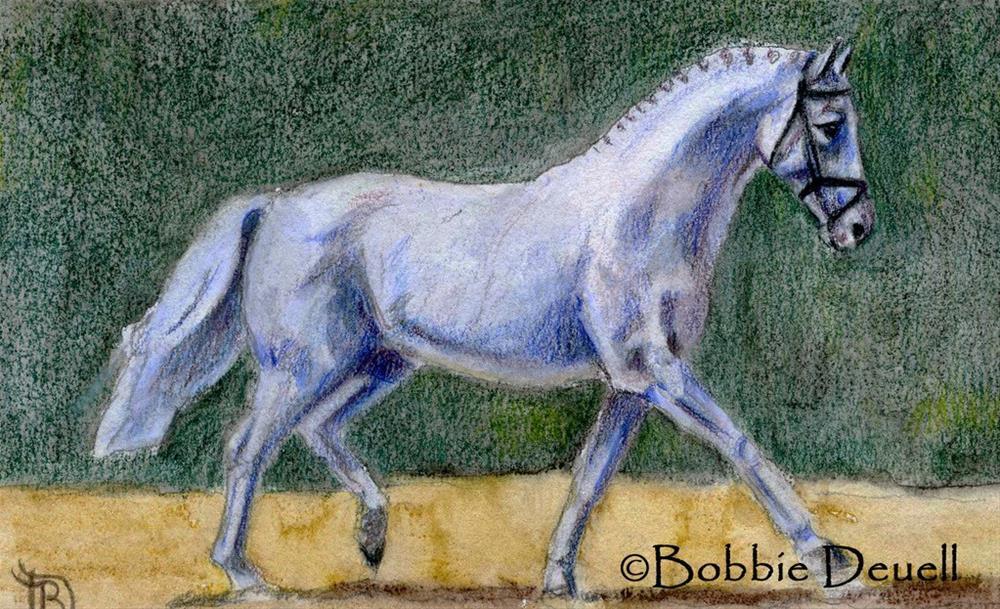 """""""#36 Dressage"""" original fine art by Bobbie Deuell"""