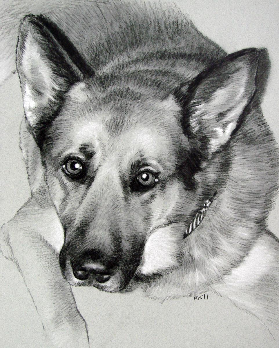 """""""A Pet Portrait Commission"""" original fine art by Rita Kirkman"""