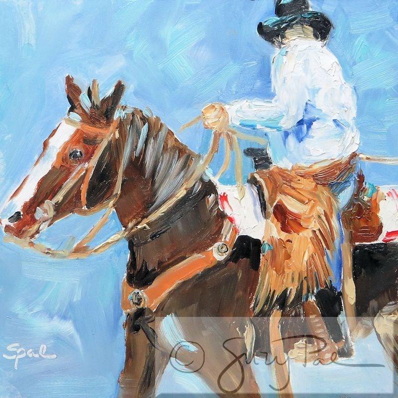 """The Cowboy"" original fine art by Suzy 'Pal' Powell"