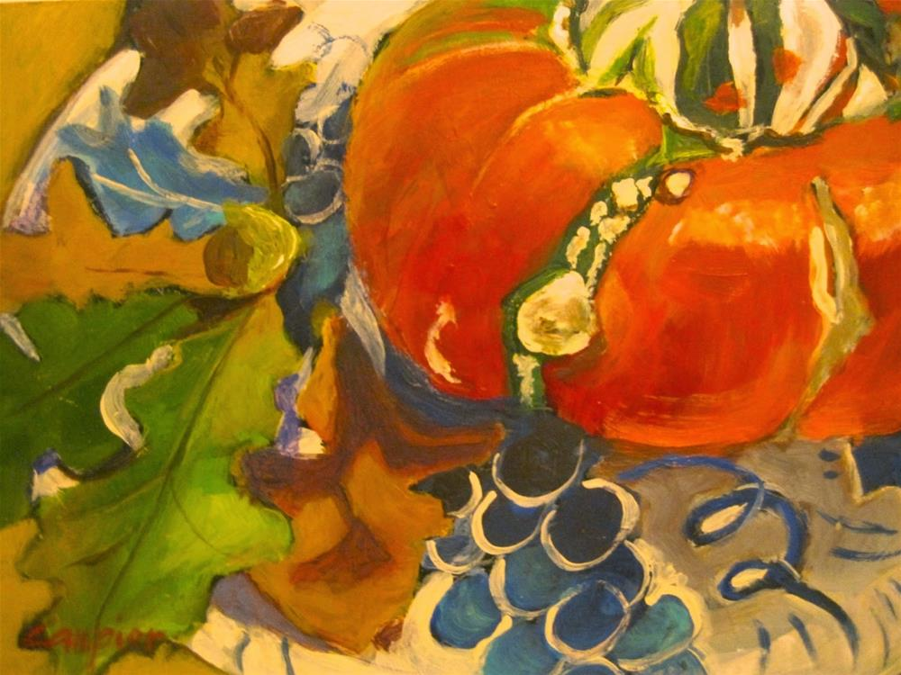 """473 A Turban, Oak Leaves and Grapes"" original fine art by Diane Campion"
