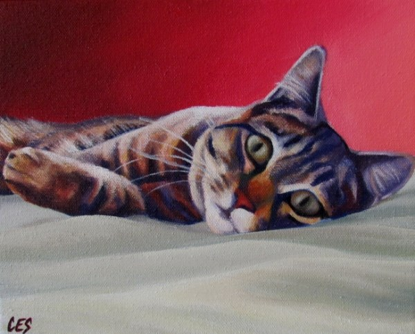 """""""On The Bed"""" original fine art by ~ces~ Christine E. S. Code"""