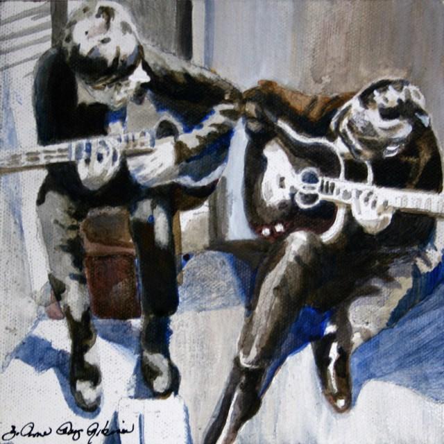 """""""Collaborators"""" original fine art by JoAnne Perez Robinson"""