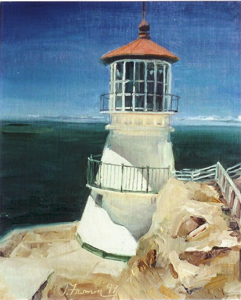 """Pt. Reyes Lighthouse"" original fine art by Jeannette Fromm"