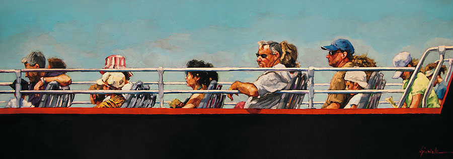 """The Red Line"" original fine art by Karin Jurick"