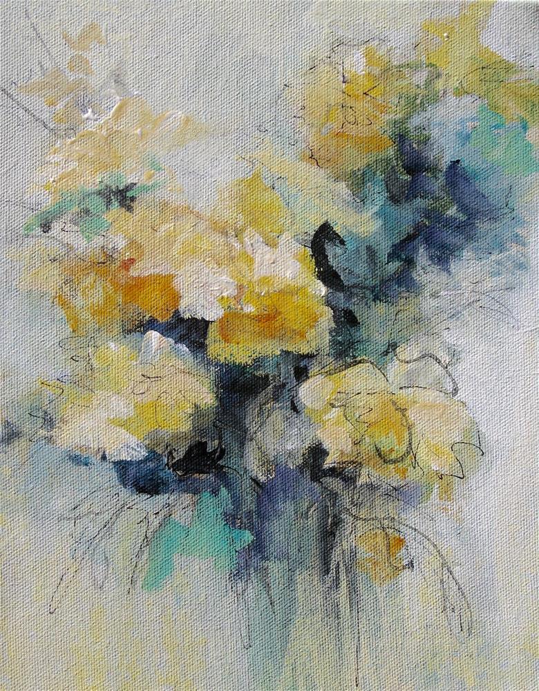 """""""Floral 6"""" original fine art by Karen Hale"""