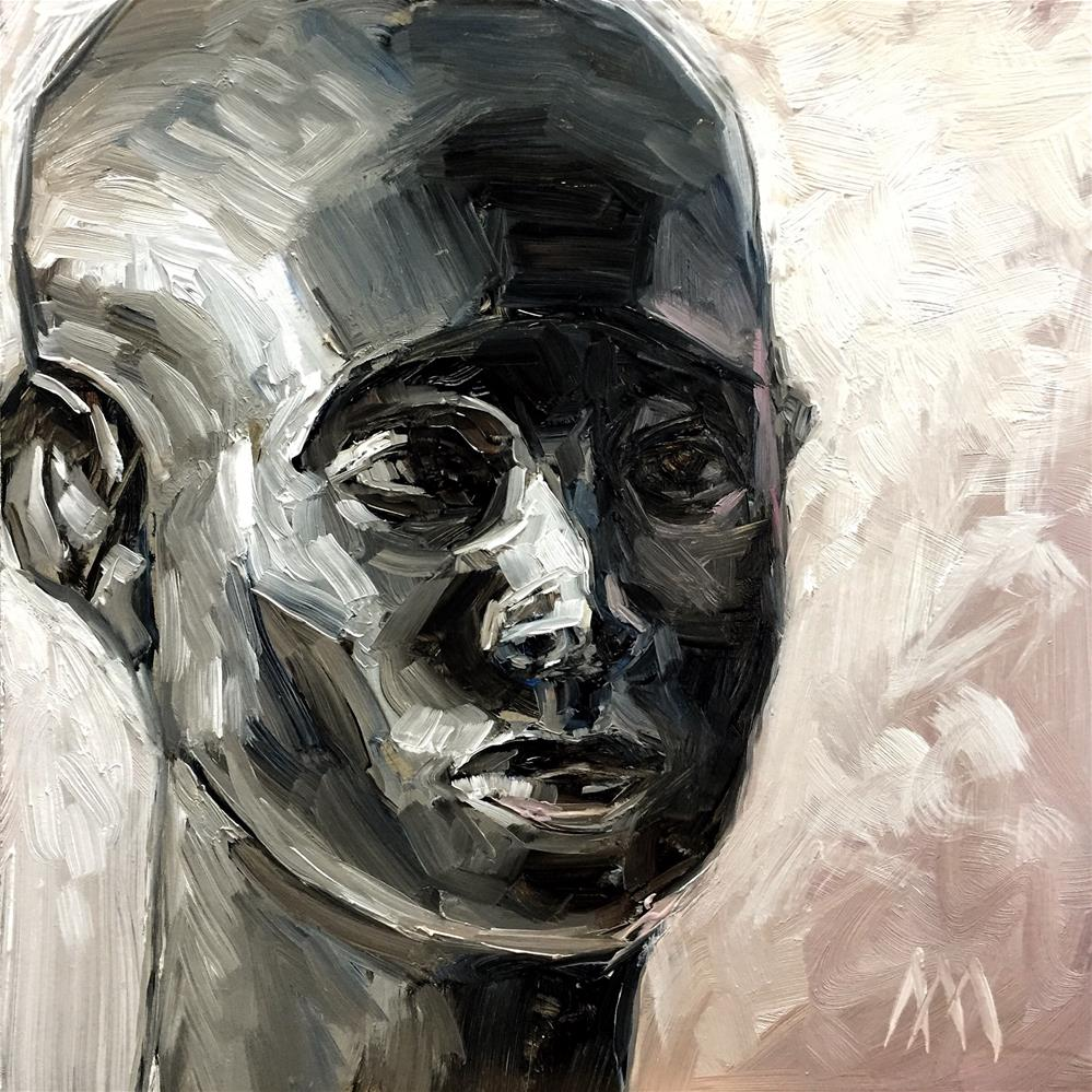 """African Head Study"" original fine art by Austin Maloney"