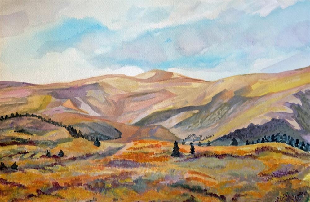"""On the Road to Guanella Pass"" original fine art by Laura Denning"