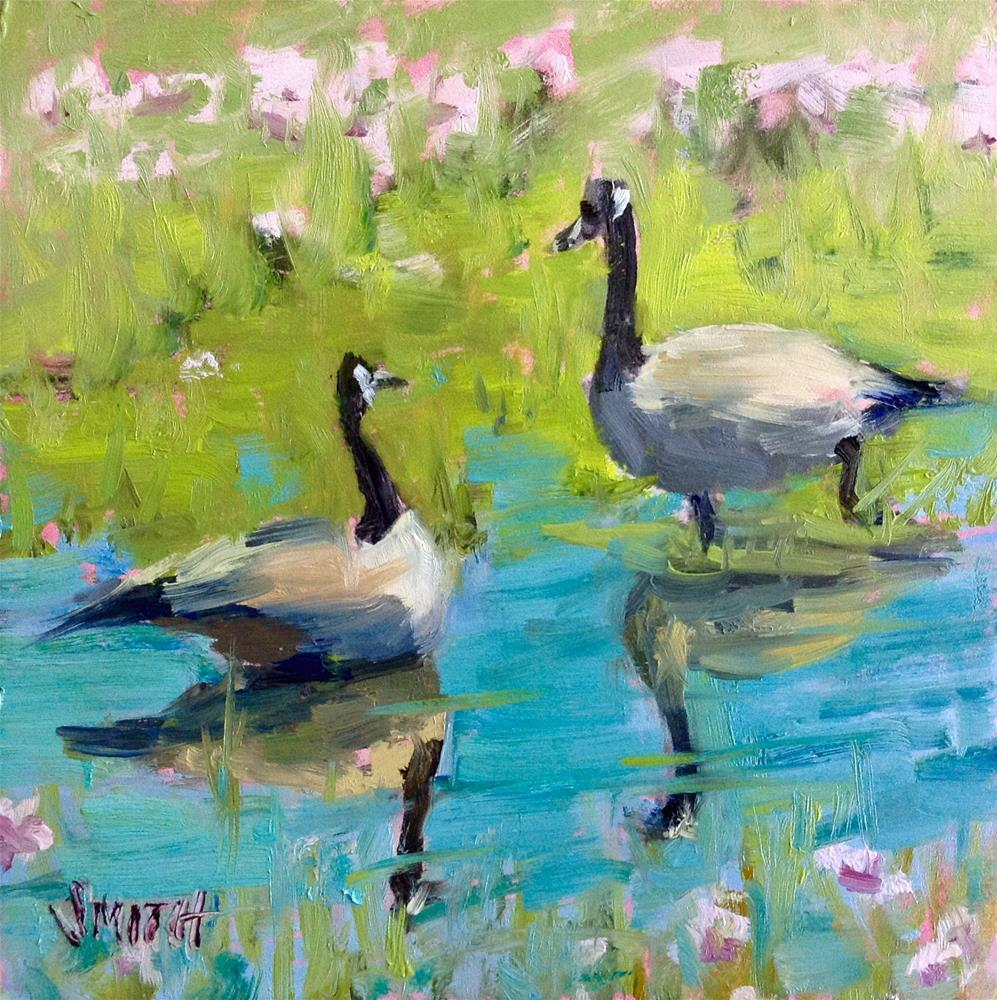 """""""May I Join You?"""" original fine art by Barbie Smith"""