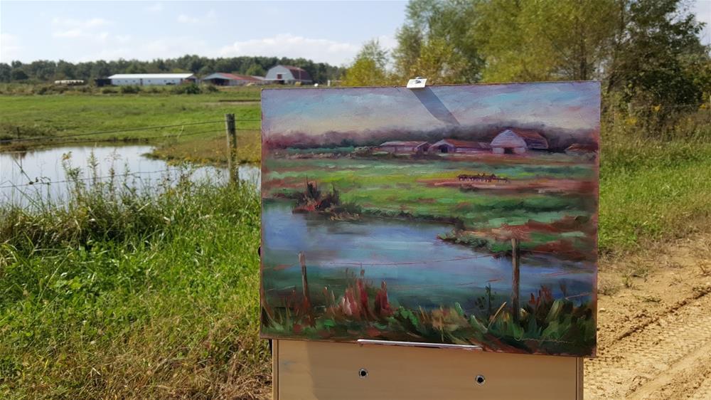 """Trotter Farm"" original fine art by Tammie Dickerson"