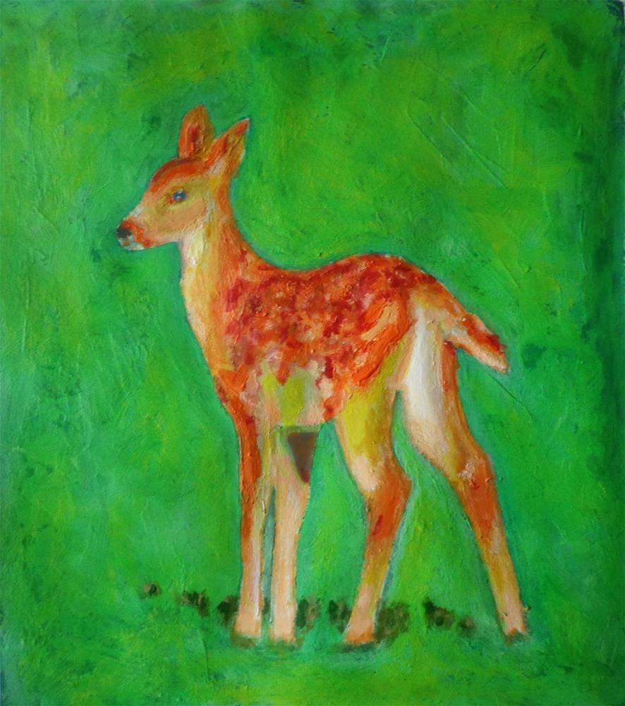 """Deer"" original fine art by Maria Z."