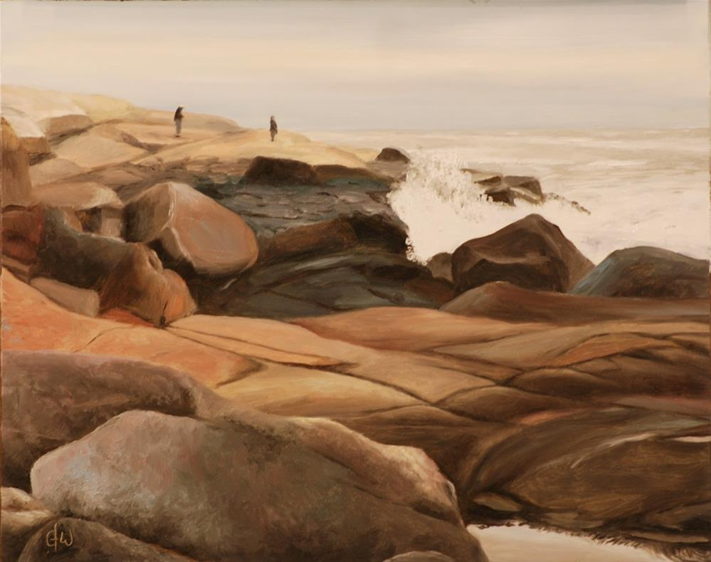 """On The Rocks"" original fine art by Gary Westlake"