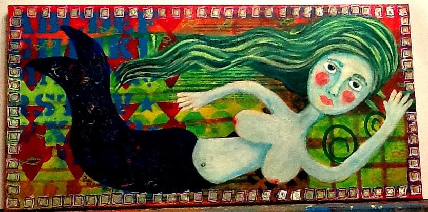 """UNDER THE SEA"" original fine art by Cindy Zoglmann"