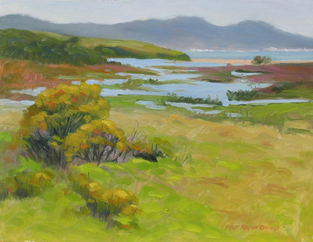 """Carmel River Marsh"" original fine art by Rhett Regina Owings"