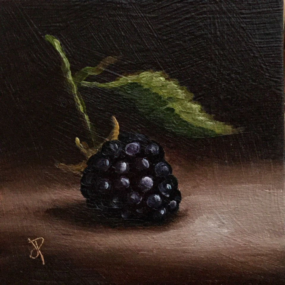 """Little Blackberry"" original fine art by Jane Palmer"