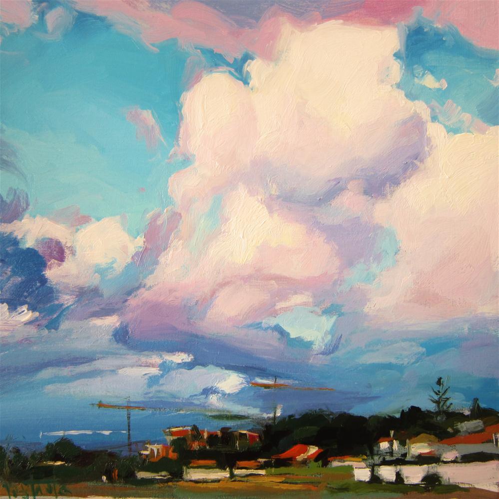 """Cumulus clouds"" original fine art by Víctor Tristante"