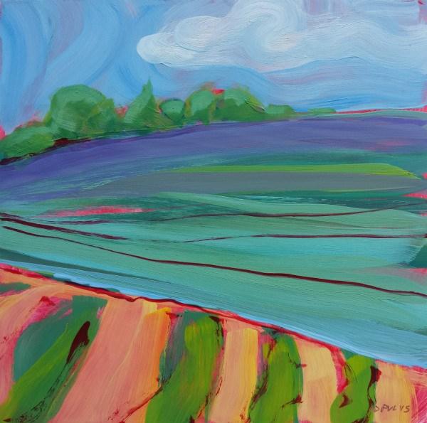 """Valley Morning 33"" original fine art by Pam Van Londen"