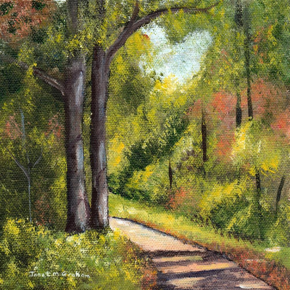 """Forest Pathway"" original fine art by Janet Graham"