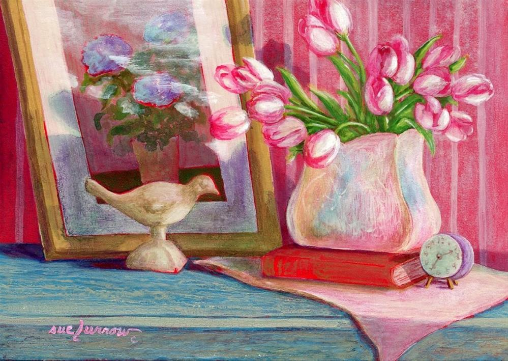 """Sleeping Late"" original fine art by Sue Furrow"