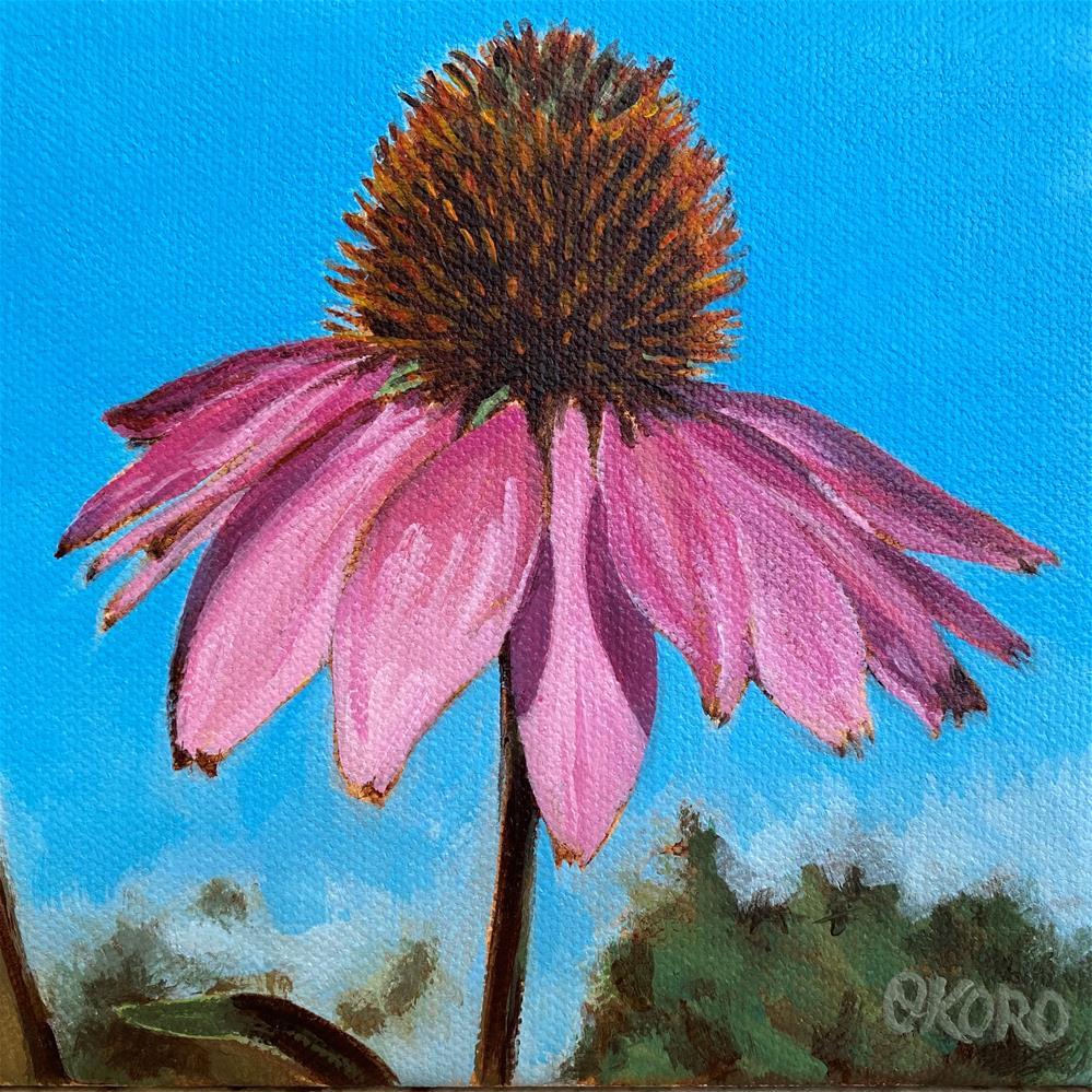 """Blue Skies Again"" original fine art by Cary Okoro"