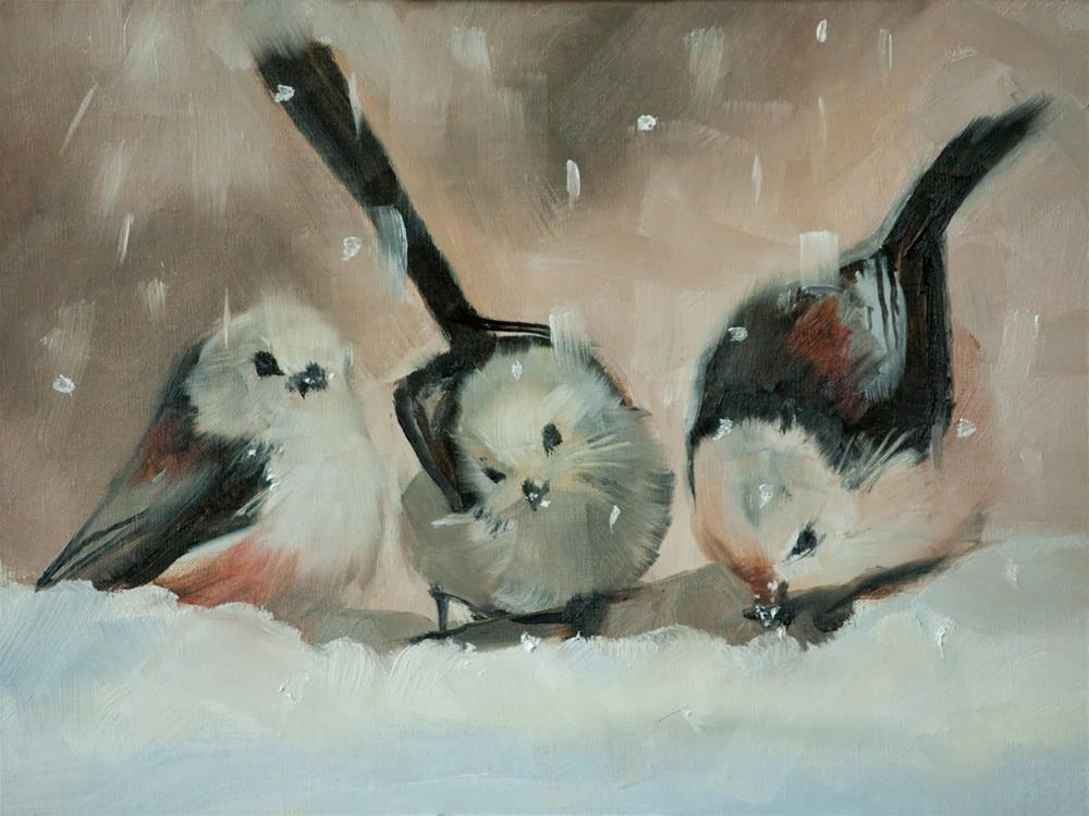"""Snow Babies"" original fine art by Beth Bathe"