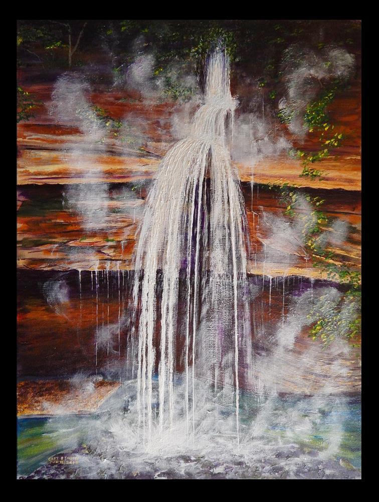 """""""Cascade, Bedford Aqueduct"""" original fine art by Captain B Smith"""