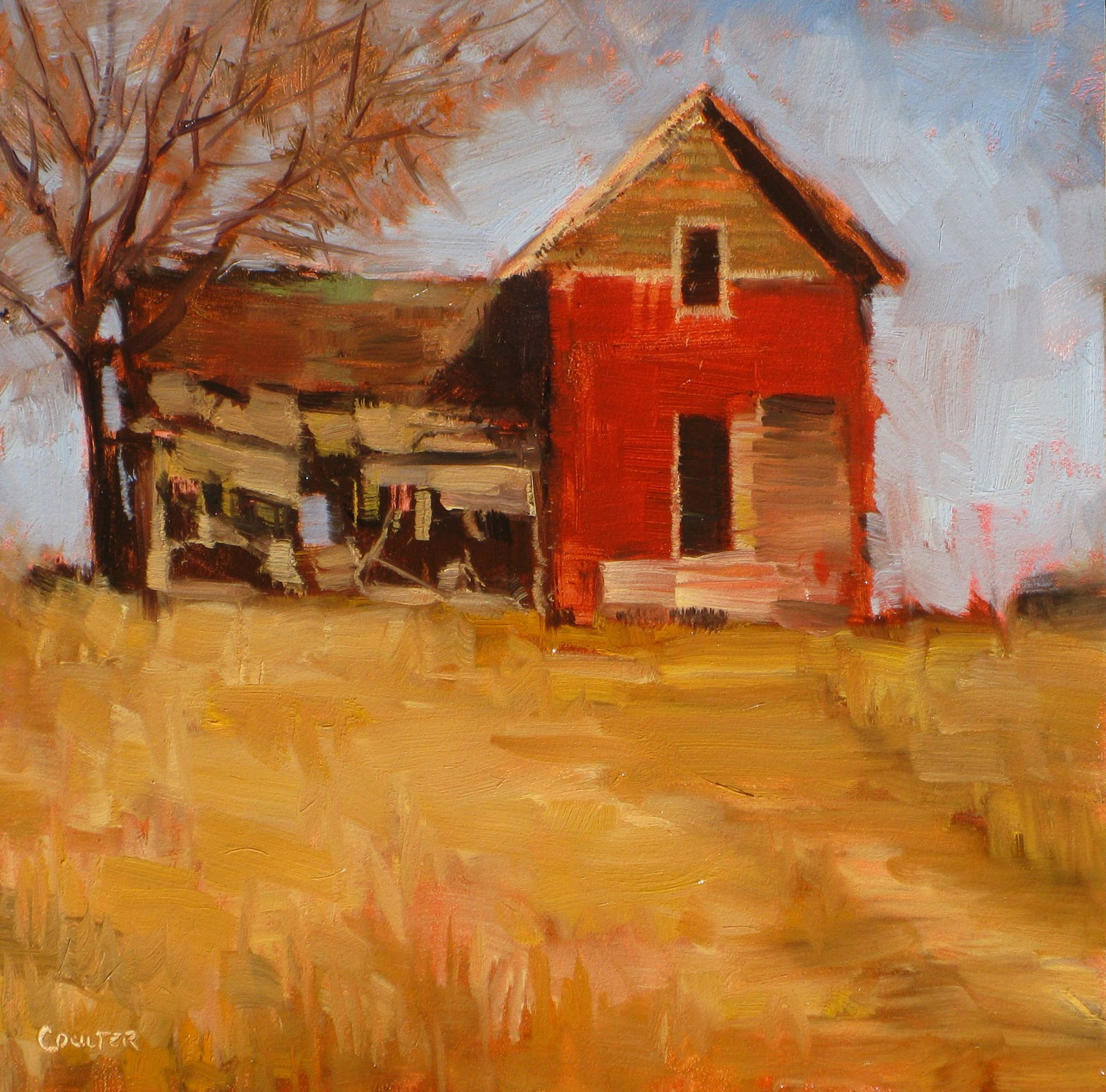 """""""ABANDONED FARMHOUSE"""" original fine art by James Coulter"""