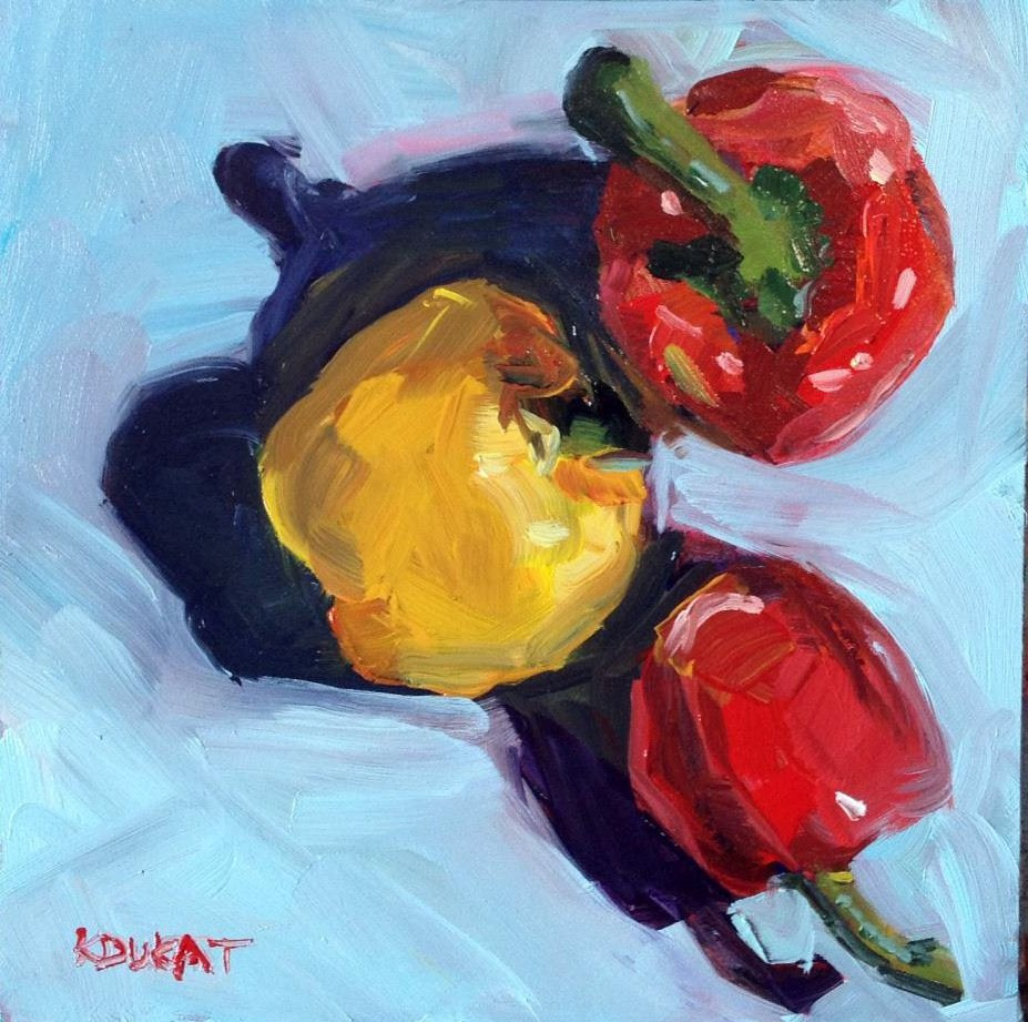 """Peppers"" original fine art by Kristen Dukat"