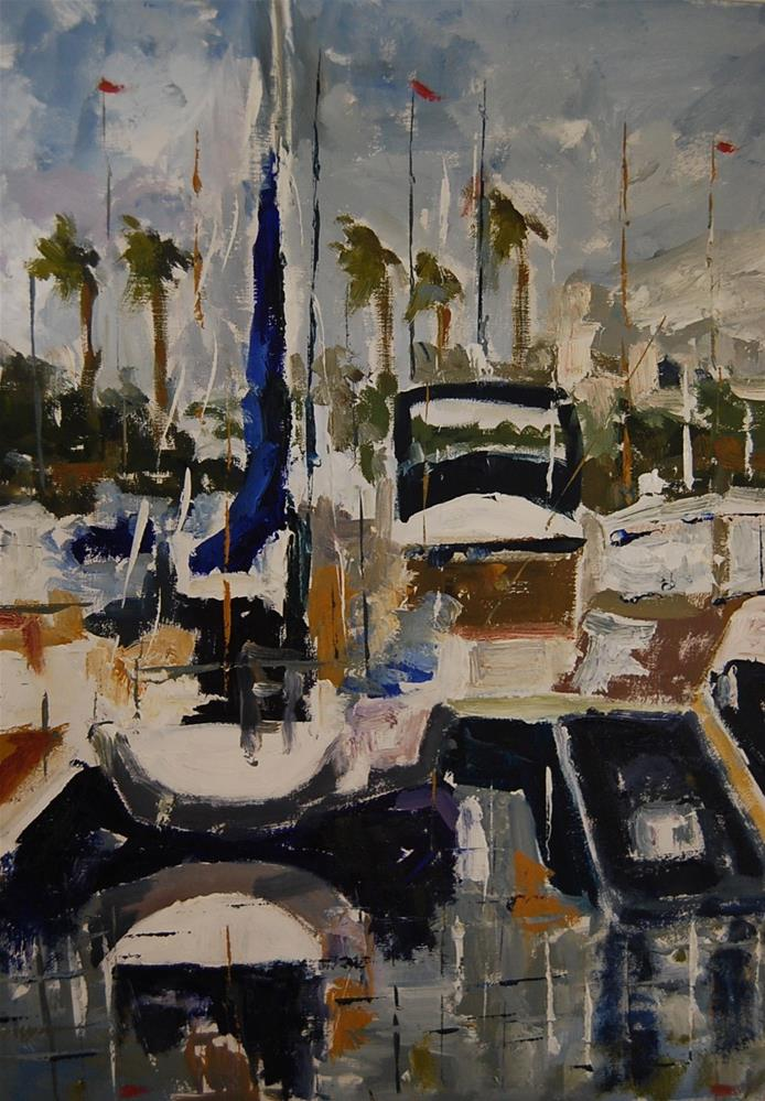 """Docked 3"" original fine art by Deborah Harold"
