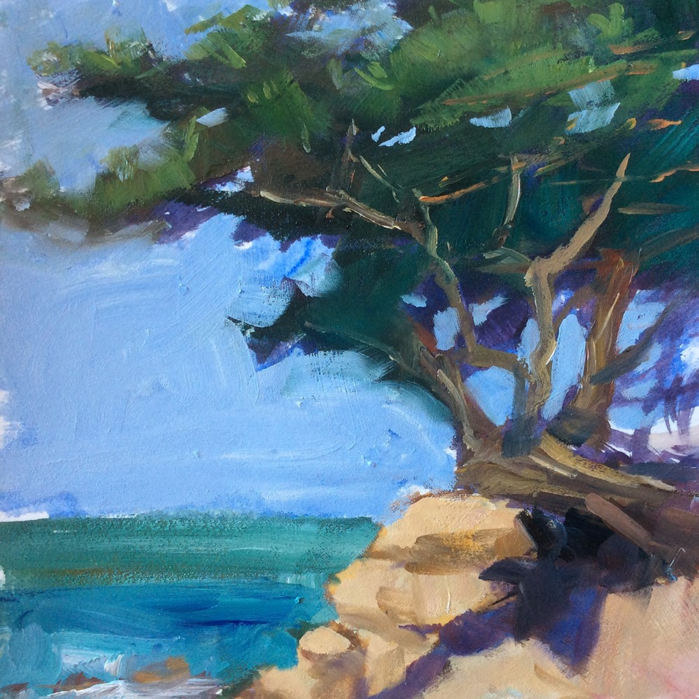 """PACIFIC GROVE CYPRESS"" original fine art by Tom Brown"