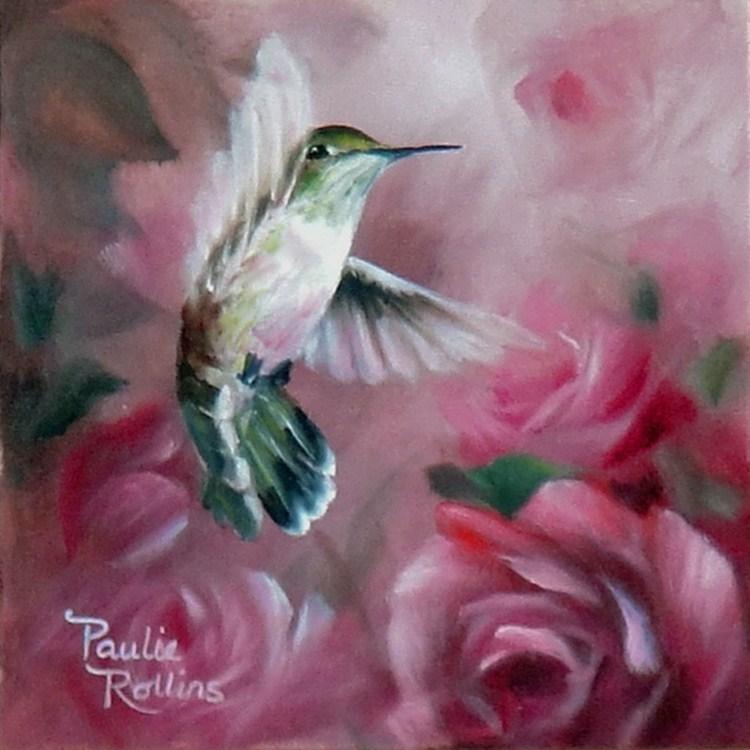 """Whispering Roses"" original fine art by Paulie Rollins"