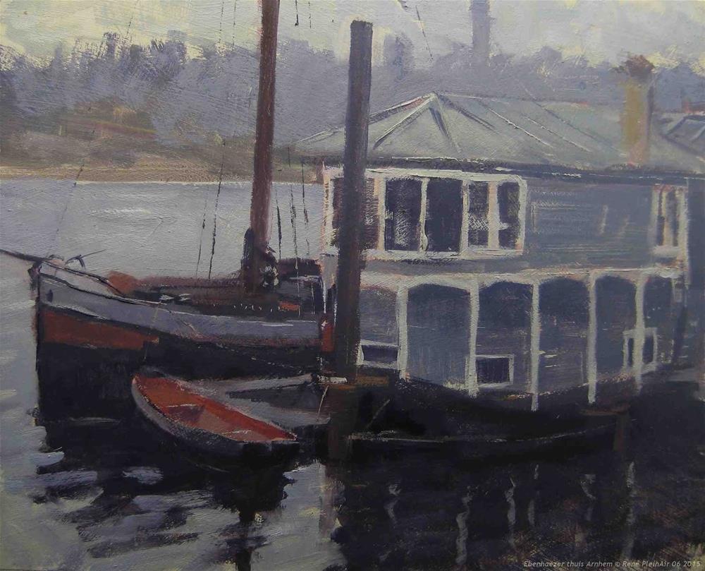 """Ebenhaezer at home Arnhem, The Netherlands"" original fine art by René PleinAir"
