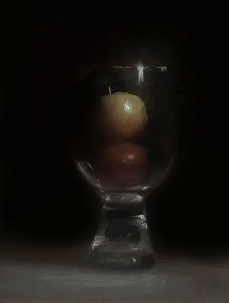 """Mini Apples in Glass"" original fine art by Neil Carroll"