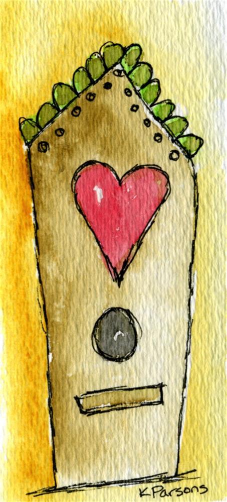 """Love Bird House"" original fine art by Kali Parsons"