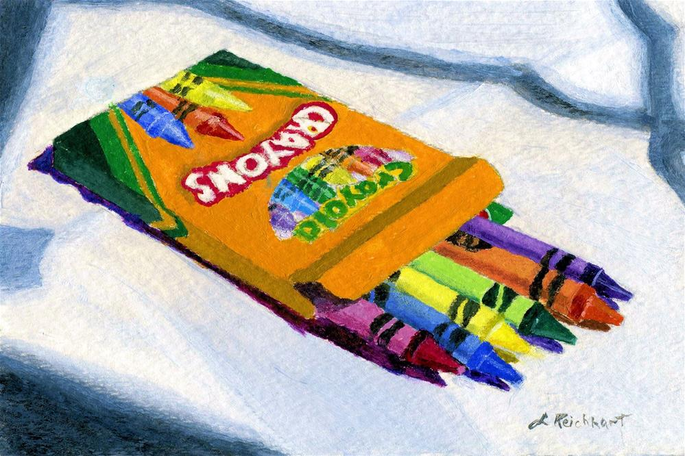 """New Crayons"" original fine art by Lynne Reichhart"