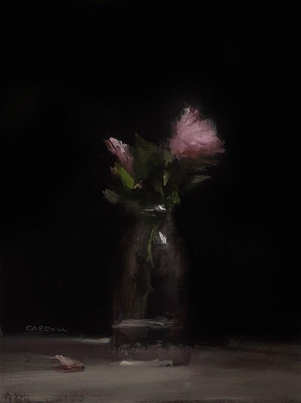 """""""Flower Bottle"""" original fine art by Neil Carroll"""