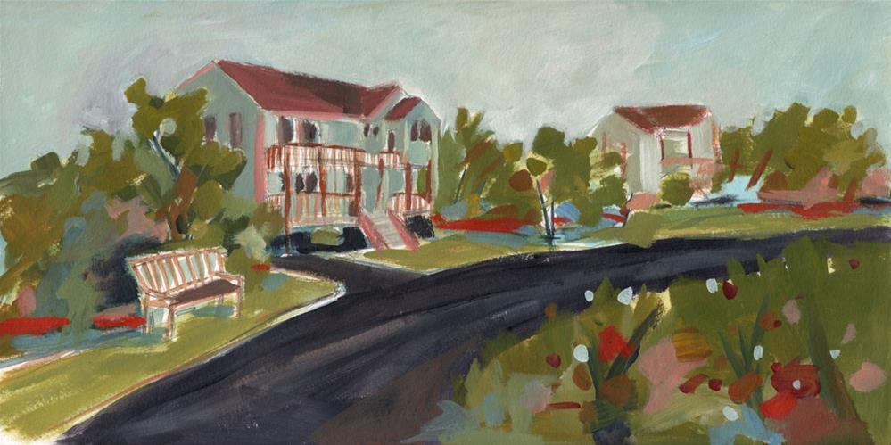 """0568: Down the Street"" original fine art by Brian Miller"