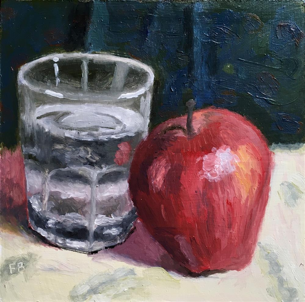 """231 Water and Apple"" original fine art by Fred Bell"