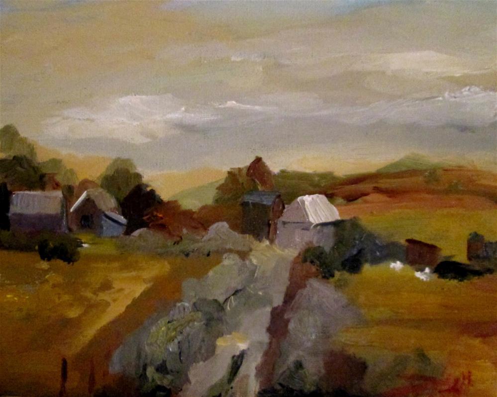 """Yellow Fields"" original fine art by Delilah Smith"