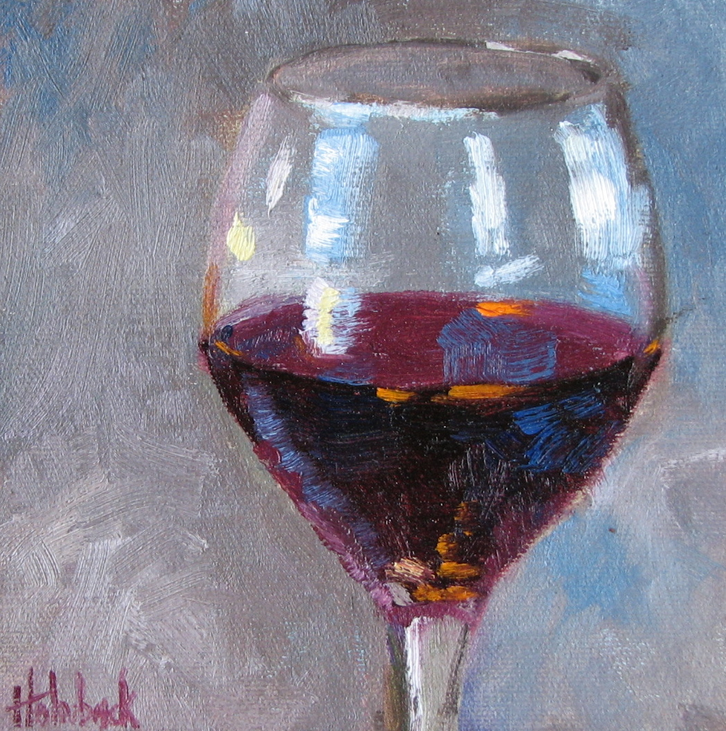 """""""Red, Please"""" original fine art by Pam Holnback"""