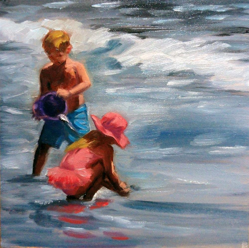 """Beach Buddies"" original fine art by Cietha Wilson"