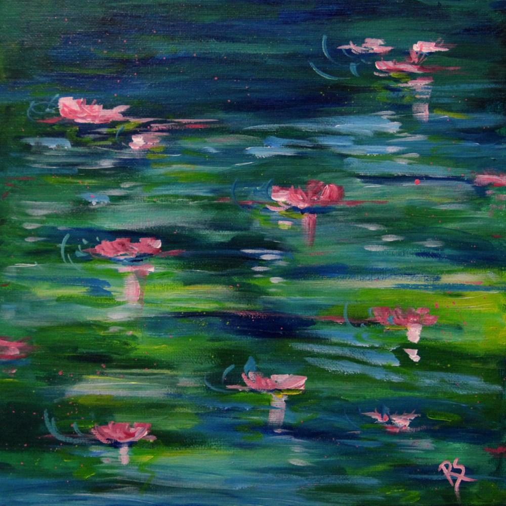"""""""In Monet's Garden"""" original fine art by Roberta Schmidt"""